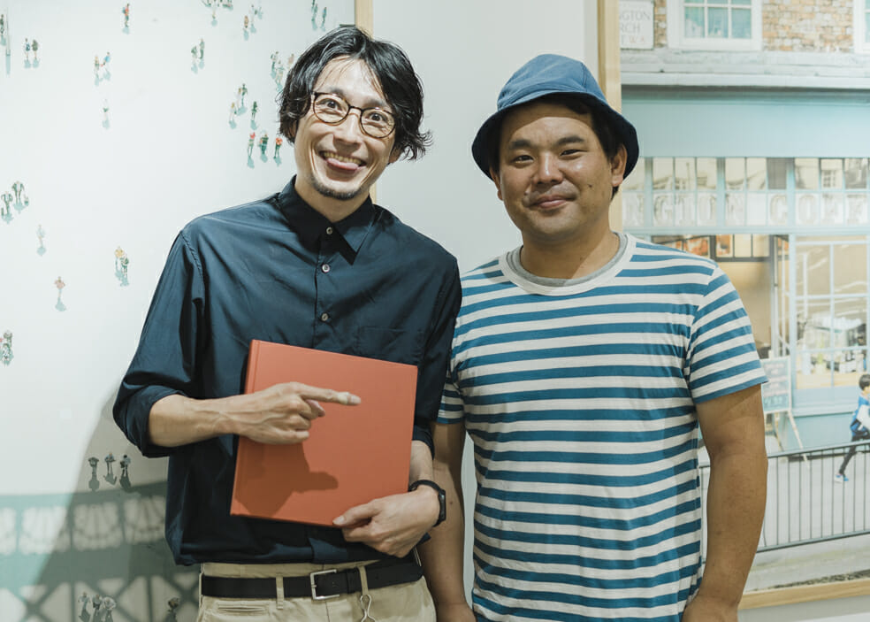 with hideaki hamada at his exhibition